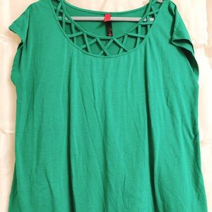 Plus size emerald green shirt